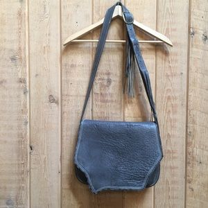 Loriano Tolaini Gray Leather Handcrafted Purse